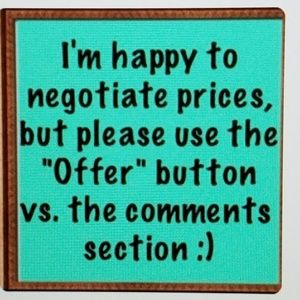 Reasonable offers always welcome